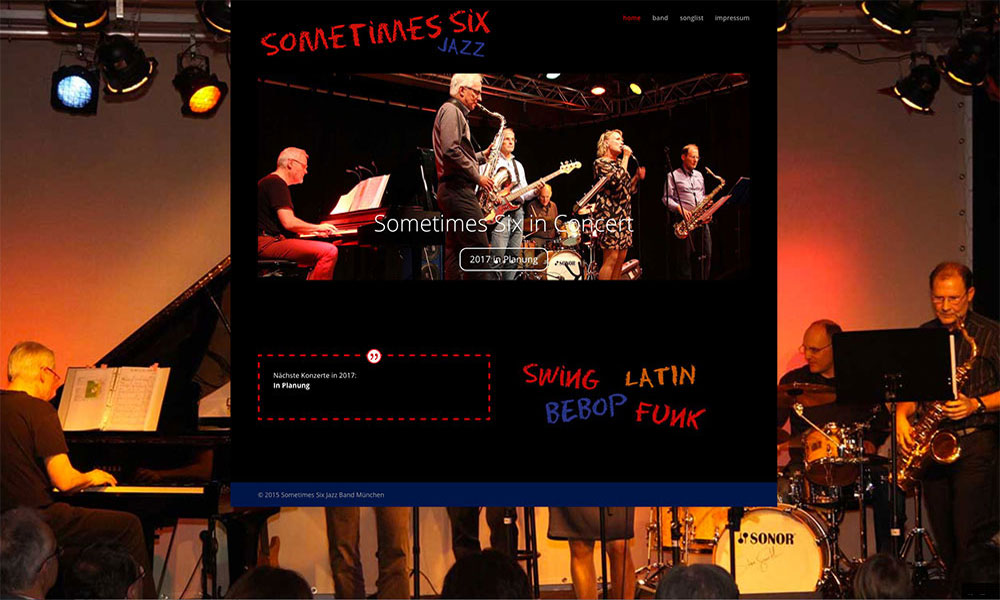 WordPress Homepage Sometimes Six Jazzband München