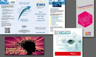 Flyer EWH, Kreisjugendring, Stadtkapelle Erding, Texas Instruments